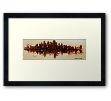 The Dark City on the Water Framed Print