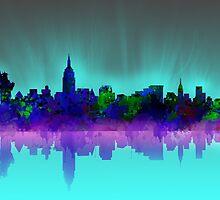 new york city skyline 2 by BekimART