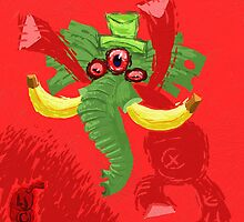 Voodoo Elephant plant monster!!! by Leftyjoe