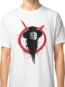 V for Vendetta Ink Classic T-Shirt