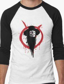 V for Vendetta Ink Men's Baseball ¾ T-Shirt