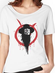 V for Vendetta Ink Women's Relaxed Fit T-Shirt