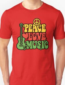 Reggae Peace Love Music T-Shirt