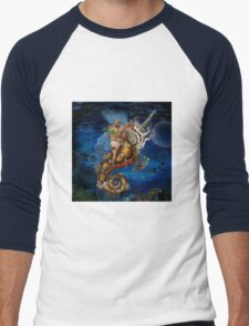 Aquatic Goddess Men's Baseball ¾ T-Shirt