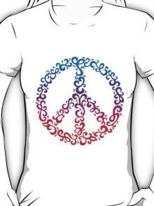 Floral Peace Symbol T-Shirt