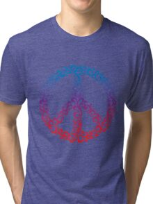 Floral Peace Symbol Tri-blend T-Shirt