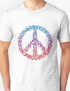 Floral Peace Symbol Unisex T-Shirt