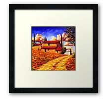 Tuscany Country Road Home Framed Print