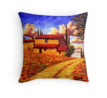 Tuscany Country Road Home Throw Pillow