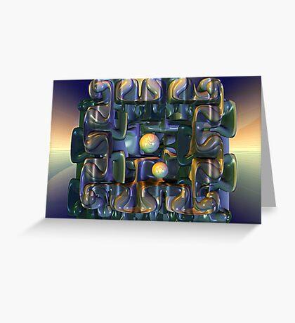 Puzzle Box Greeting Card
