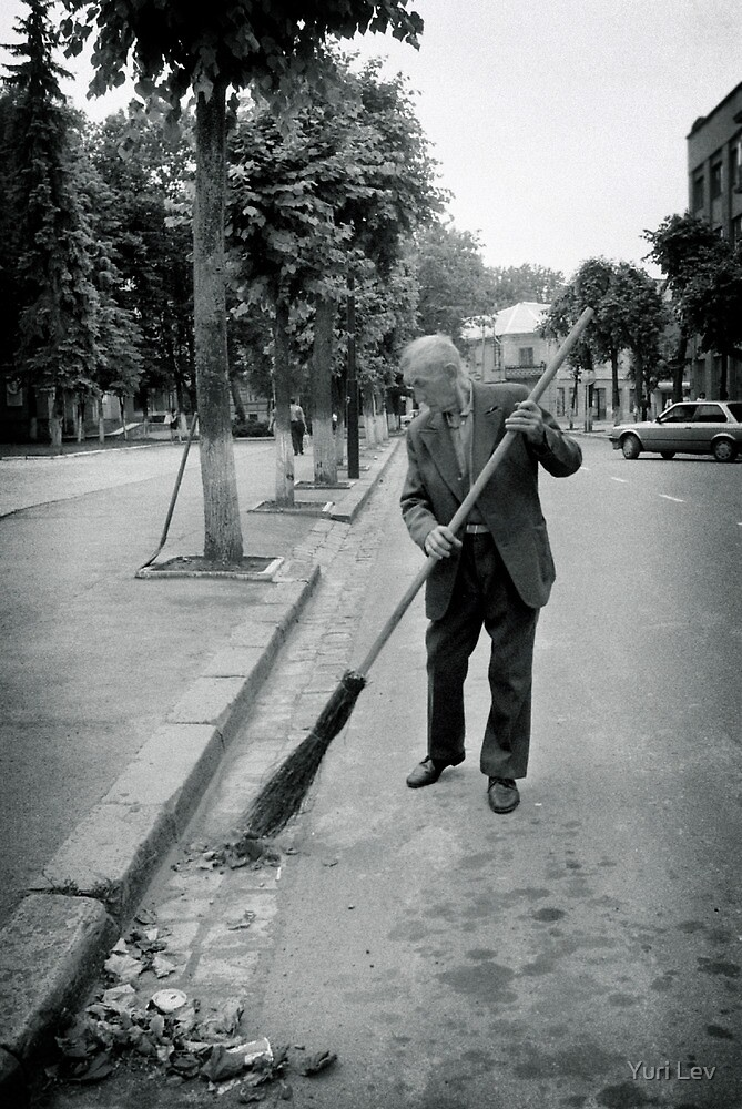 Street Sweeeper, Ivano-Frankivsk, Ukraine by Yuri Lev