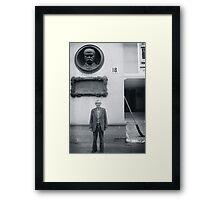 Man and Broom, Ukraine Framed Print