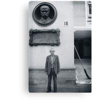Man and Broom, Ukraine Canvas Print