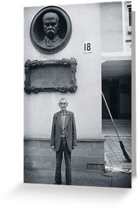 Man and Broom, Ukraine by Yuri Lev