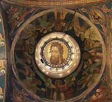 Jesus fresco on the ceiling the church by mrivserg