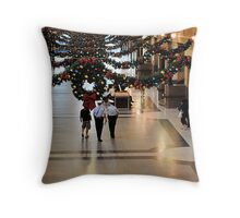 Holiday time at the Station Throw Pillow