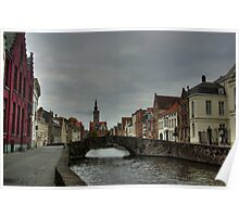 Cloudy Brugge Poster