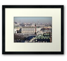 Roofs  St. Petersburg  Framed Print