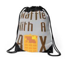 """""""Waffle With a Box"""" Waffle Box Productions Bag Drawstring Bag"""
