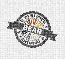 Certified Bear Stamp by LiveLoudGraphic