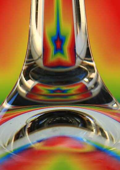 Rainbow star in a glass by Judith Cahill
