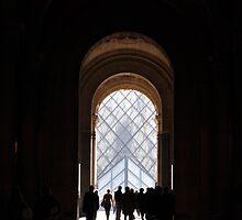 la pyramide du louvre, paris by gary roberts