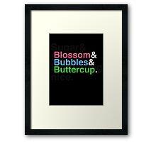 Powerpuff Helvetica Framed Print