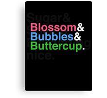 Powerpuff Helvetica Canvas Print
