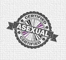Certified Asexual Stamp by LiveLoudGraphic