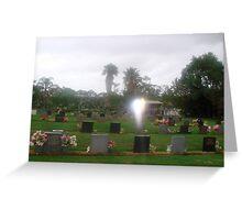 Wings of angel....Childers Lawn Cemetery...Queensland. Greeting Card