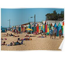 The Brighton Boatsheds - an Aussie icon #1 Poster