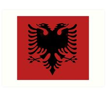 red and black eagle  Art Print