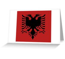 red and black eagle  Greeting Card