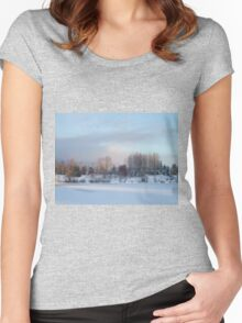Frozen Lake Women's Fitted Scoop T-Shirt