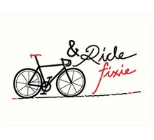 ride fixie Art Print