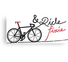 ride fixie Metal Print
