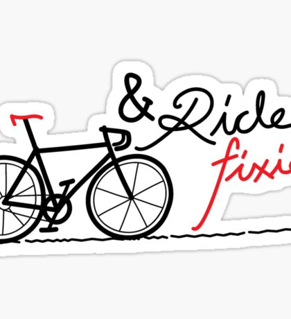 ride fixie Sticker