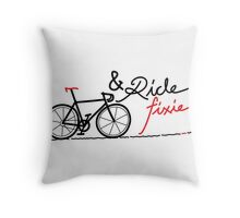ride fixie Throw Pillow