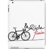 ride fixie iPad Case/Skin
