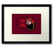 Pink Widow Framed Print