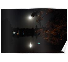 Moonlight at Lake Weeroona Poster