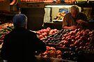 choosing the best - street market, Bologna, Italy by Andrew Jones
