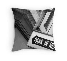 Carnegie, PA: Parking Throw Pillow