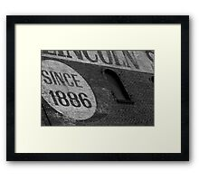 Carnegie, PA: Lincoln Savings & Loan Framed Print