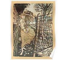 Undine by Freiherr de La Motte Frou art Arthur Rackham 1919 0010 Frontpiece Outside Window Poster