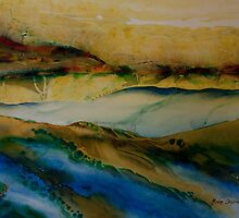 Watercolour: Between two landscapes by Marion Chapman