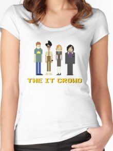 The IT Crowd – Roy, Moss, Jen and Douglas Women's Fitted Scoop T-Shirt