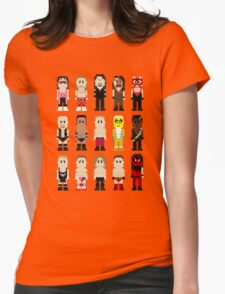 8-Bit Wrestlers '97! Womens Fitted T-Shirt