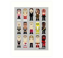 8-Bit Wrestlers '97! Art Print