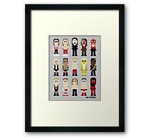 8-Bit Wrestlers '97! Framed Print